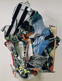 Frank Stella sculpture, Of Whales in Paint, in Teeth, &c. 1990