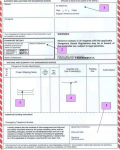 Dot and iata regulations iataicao inspection checklist for shippers declaration thecheapjerseys Choice Image
