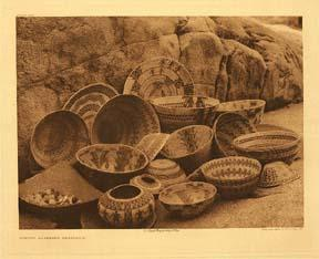 Curtis photograph of Yoktus baskets