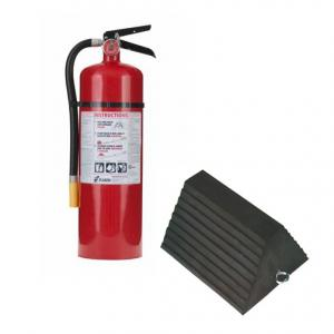 Fire  Extinguisher and Wheel Chock