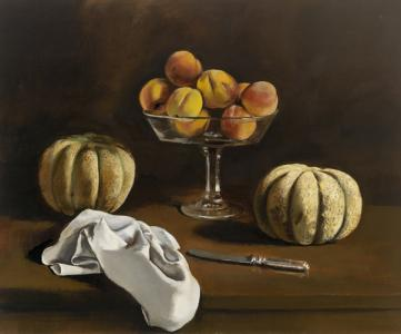 Still Life,  Peaches and Melons by Walter Stuempfig