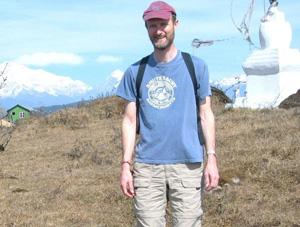 Mark Hart on mountain in India