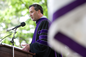 President Marx delivers the 2010 Commencement address