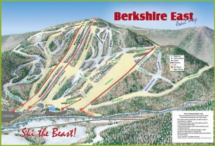 Berkshire East Trail Map