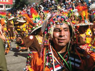 Folk Dancers in Bolivia