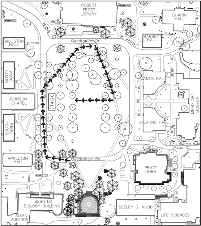 Commencement Procession Map