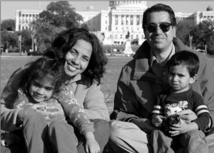 Sameer Shah and his family (from 25th Reunion book submission)