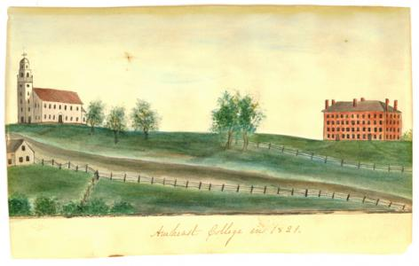 Amherst College in 1821 by Orra White Hitchcock