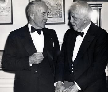 Archibald MacLeish and Robert Frost (1954)