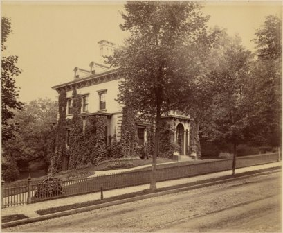 Bowles house on Central Street, Springfield, c. 1885