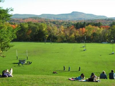 Memorial Hill - the quintessential Amherst view
