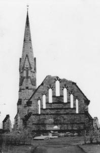 Stearns Church during demolition in 1949