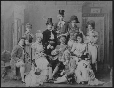 An Amherst theater troupe from 1885