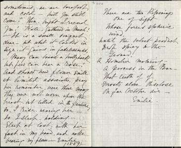 Kate (Turner) Anthon's transcription of Dickinson's circa March 1859 letter (Johnson 203), pages 2-3