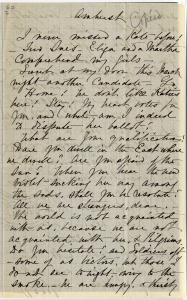 Kate (Turner) Anthon's transcription of Dickinson's circa March 1859 letter (Johnson 203), page 1
