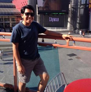 Chillin' at Universal CityWalk in Los Angeles.