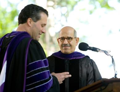 Honorary degree recipient Mohamed ElBaradei