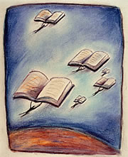 books, flying