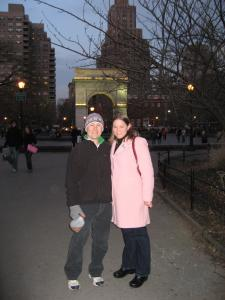 Nathan and Amanda in Washington Square Park