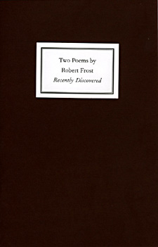Robert Frost, Two Poems