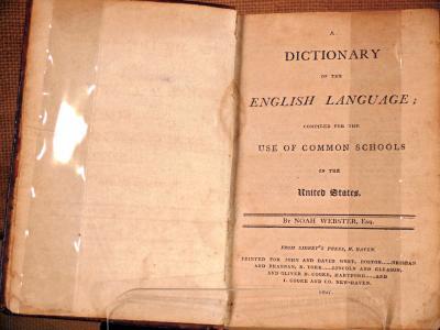 Noah webster dissertations english language