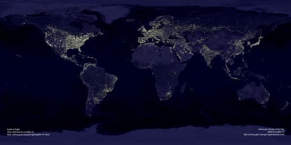 Composite Satellite View of the Earth at Night