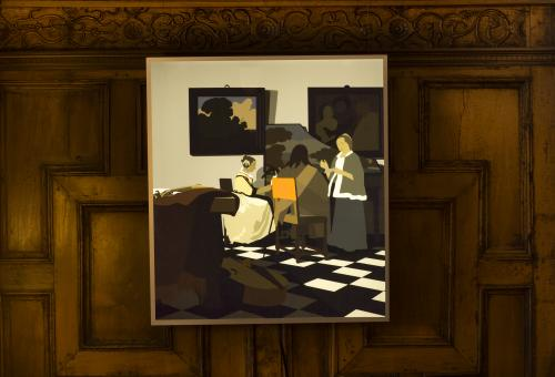 Kota Ezawa, The Concert, on view in the Rotherwas Room