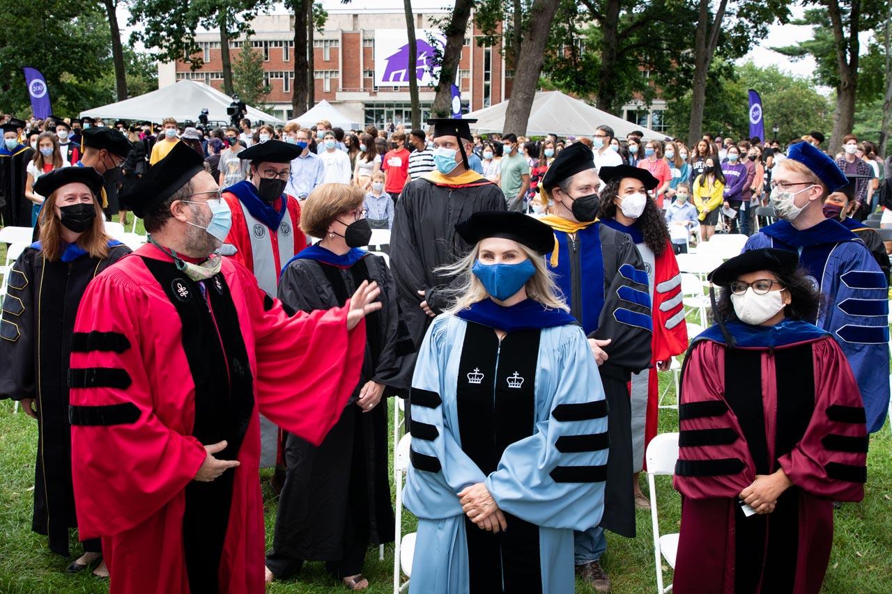 faculty in regalia at Convocation