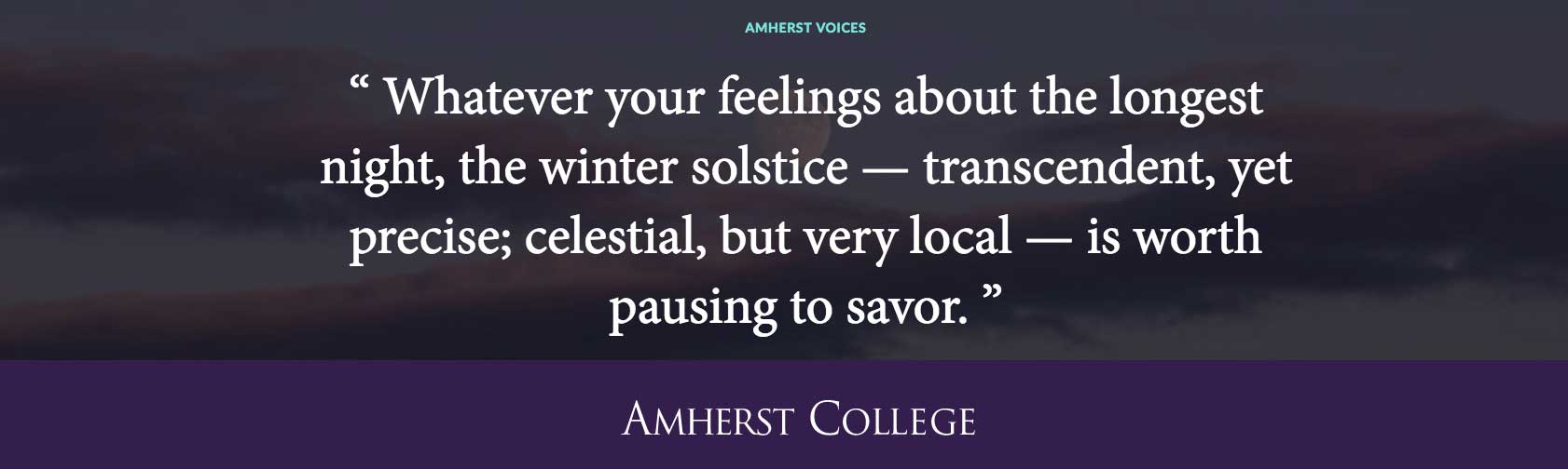 Quote by Mark Vanhoenacker '96 in praise of darkness