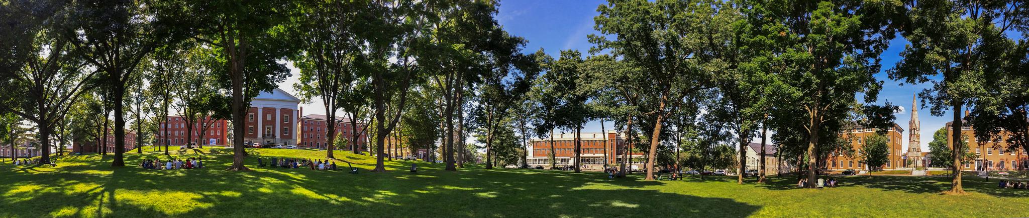 panoramic view of freshman quad