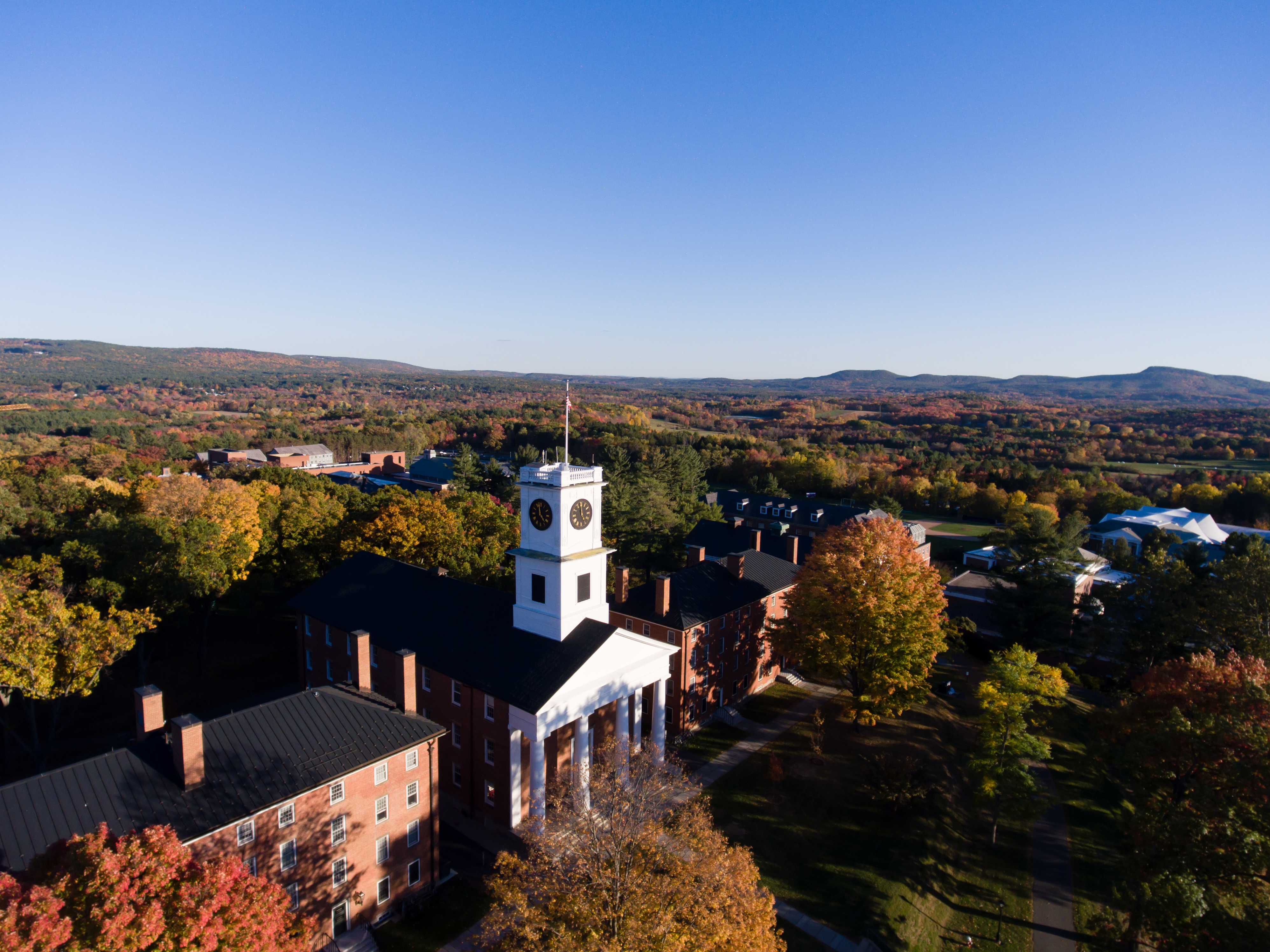 Aerial view of Johnson Chapel