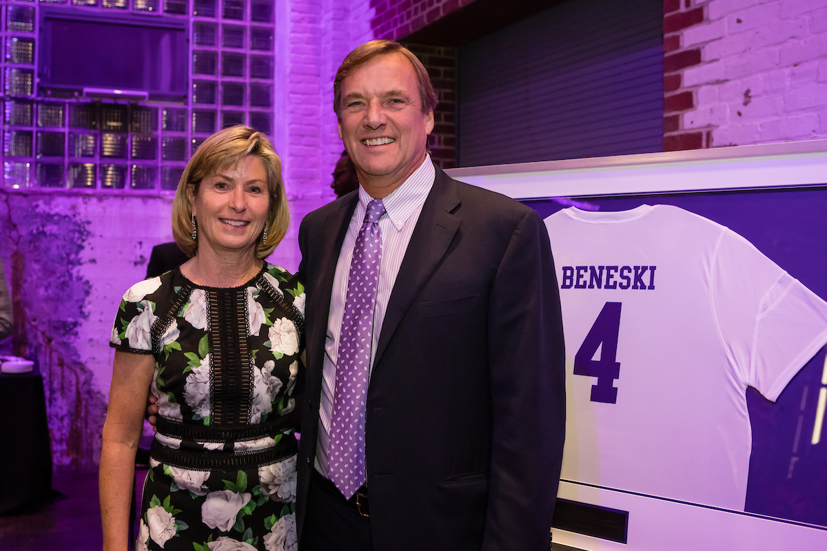 Photo of the Beneskis and soccer jersey