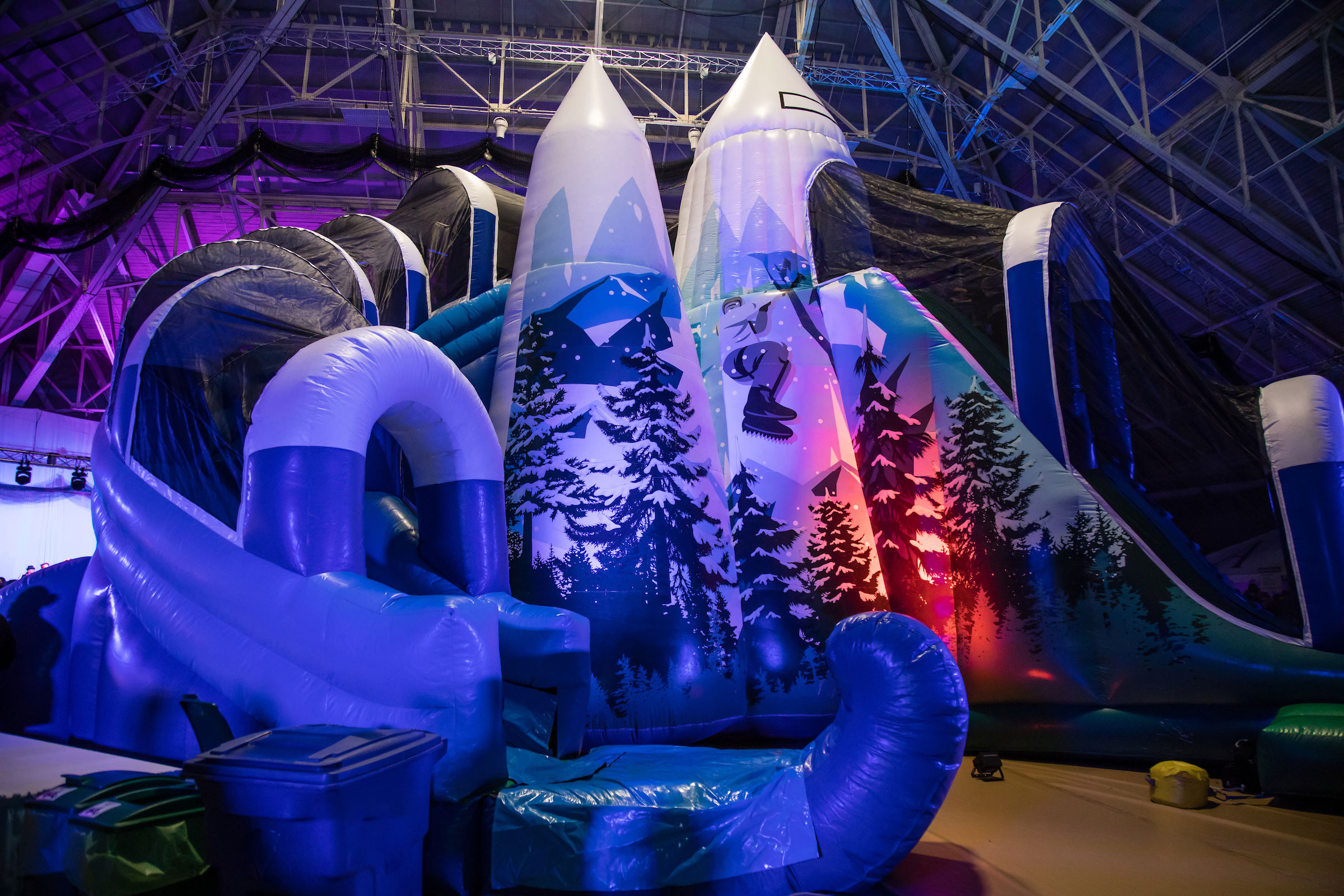 The inflatable slide at Winter Fest