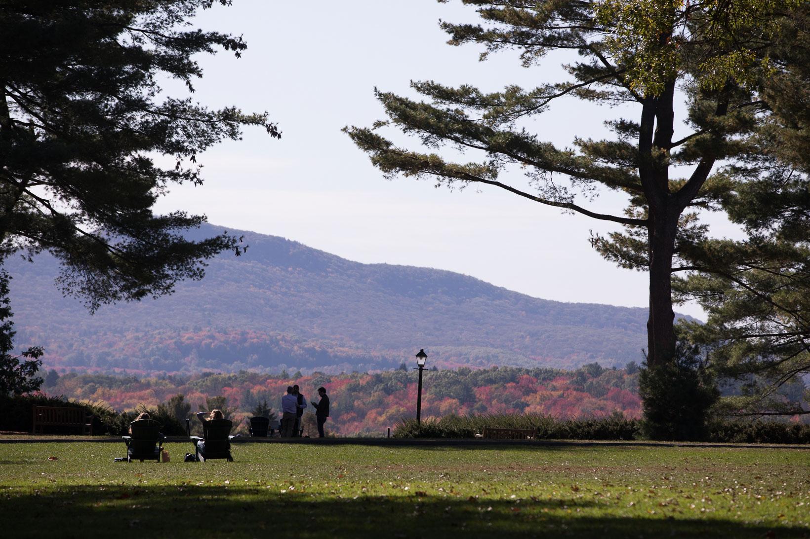 Enjoying the view of the Holyoke Range