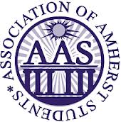 The words Association of Amherst Students in a circle around an AAS logo