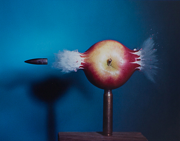 Bullet Piercing an Apple