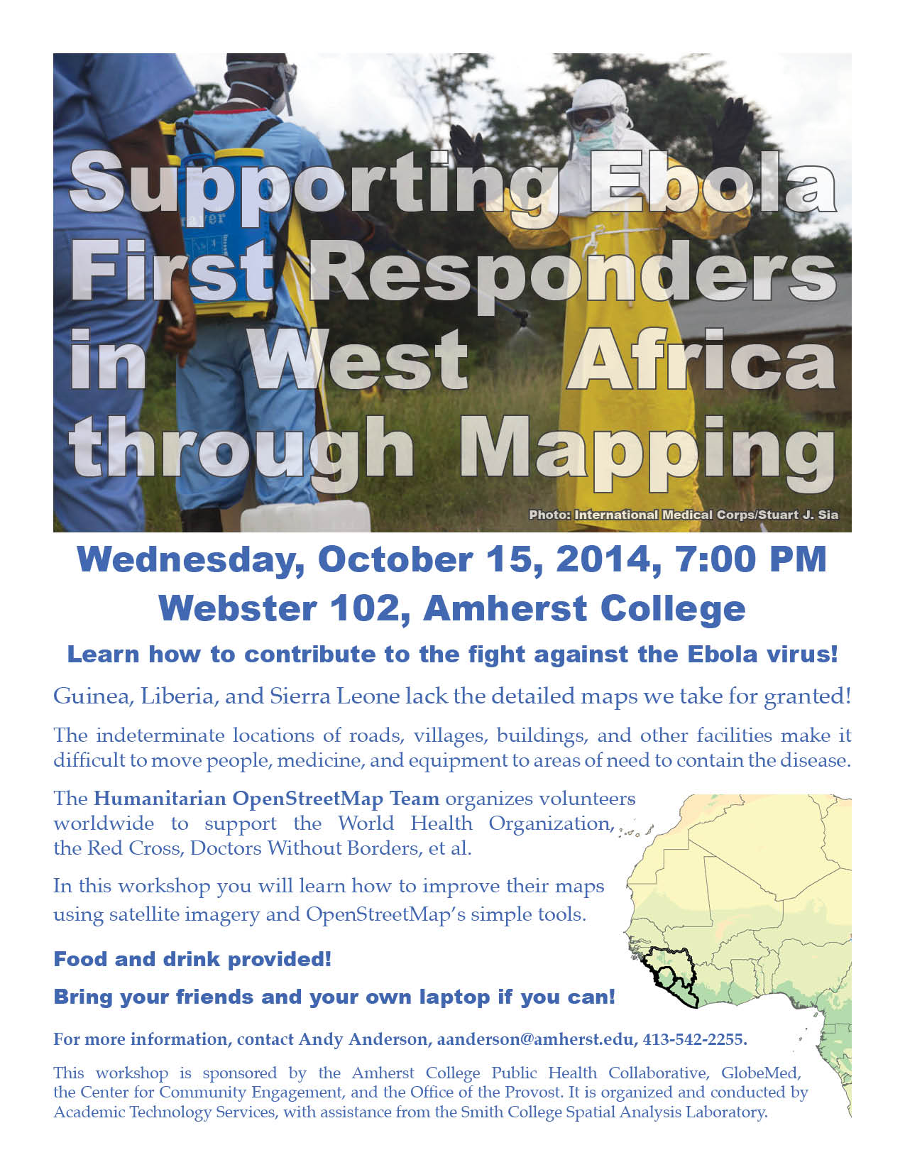 Supporting Ebola First Responders in West Africa through Mapping