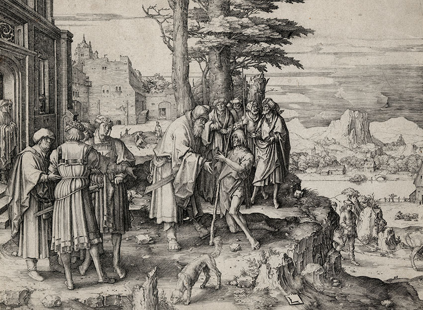 The Return of the Prodigal Son print by Lucas van Leyden