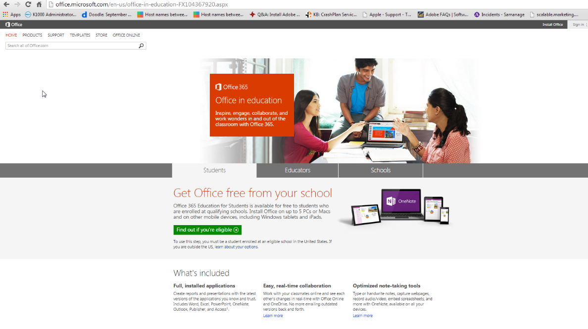 Free Office 365 ProPlus for Students