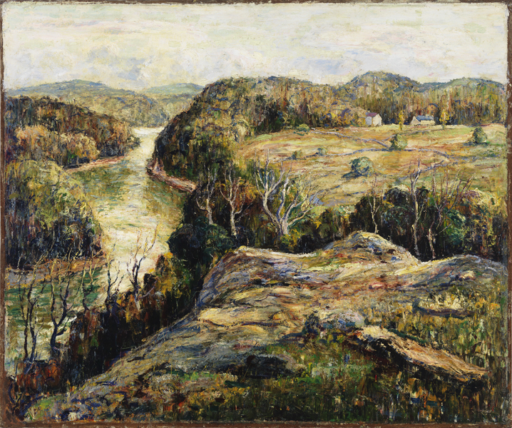 Ernest Lawson, (American, 1873-1939). Autumn Hills, 1917. Gift of George D. Pratt (Class of 1893). 1932.14.