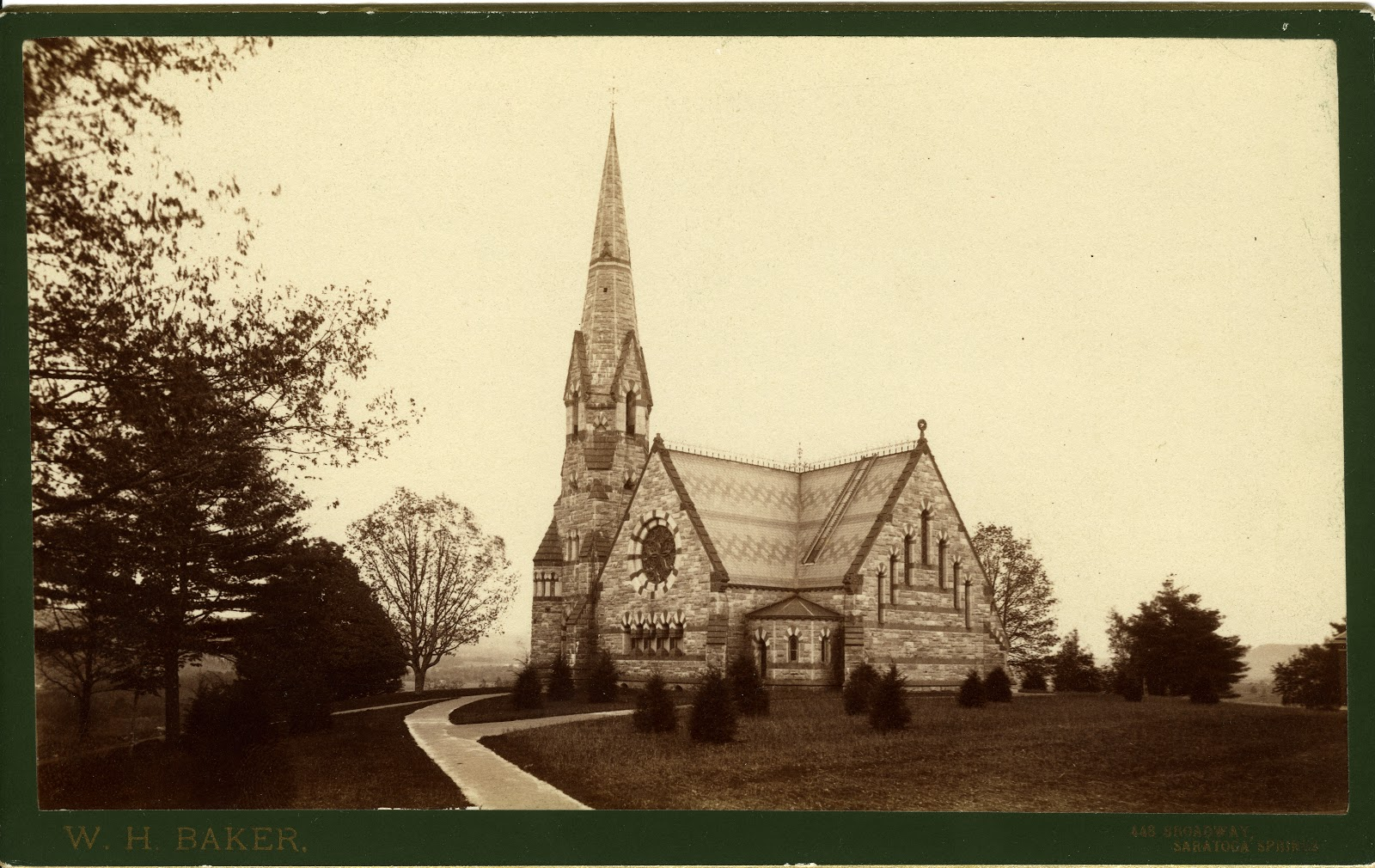 An 1873 photograph of Stearns Church