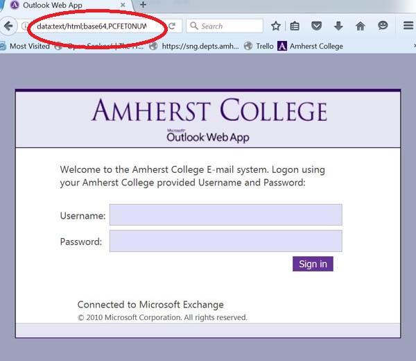 phishing login page