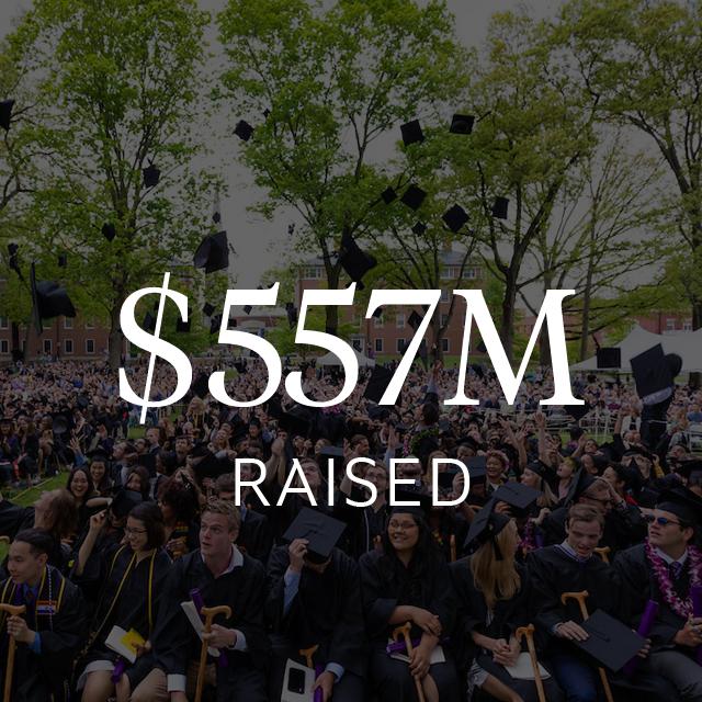 $557 million raised