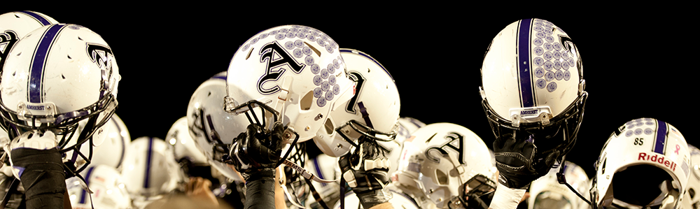 Amherst football helmets