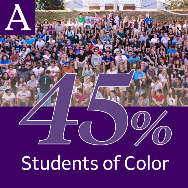 45% of Amherst students self-identify as students of color