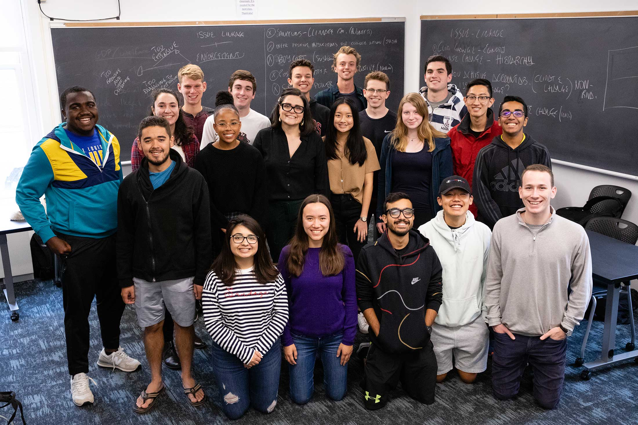 Group photo of attendees for Eleonora Mattiacci's class: Politics of Climate Change
