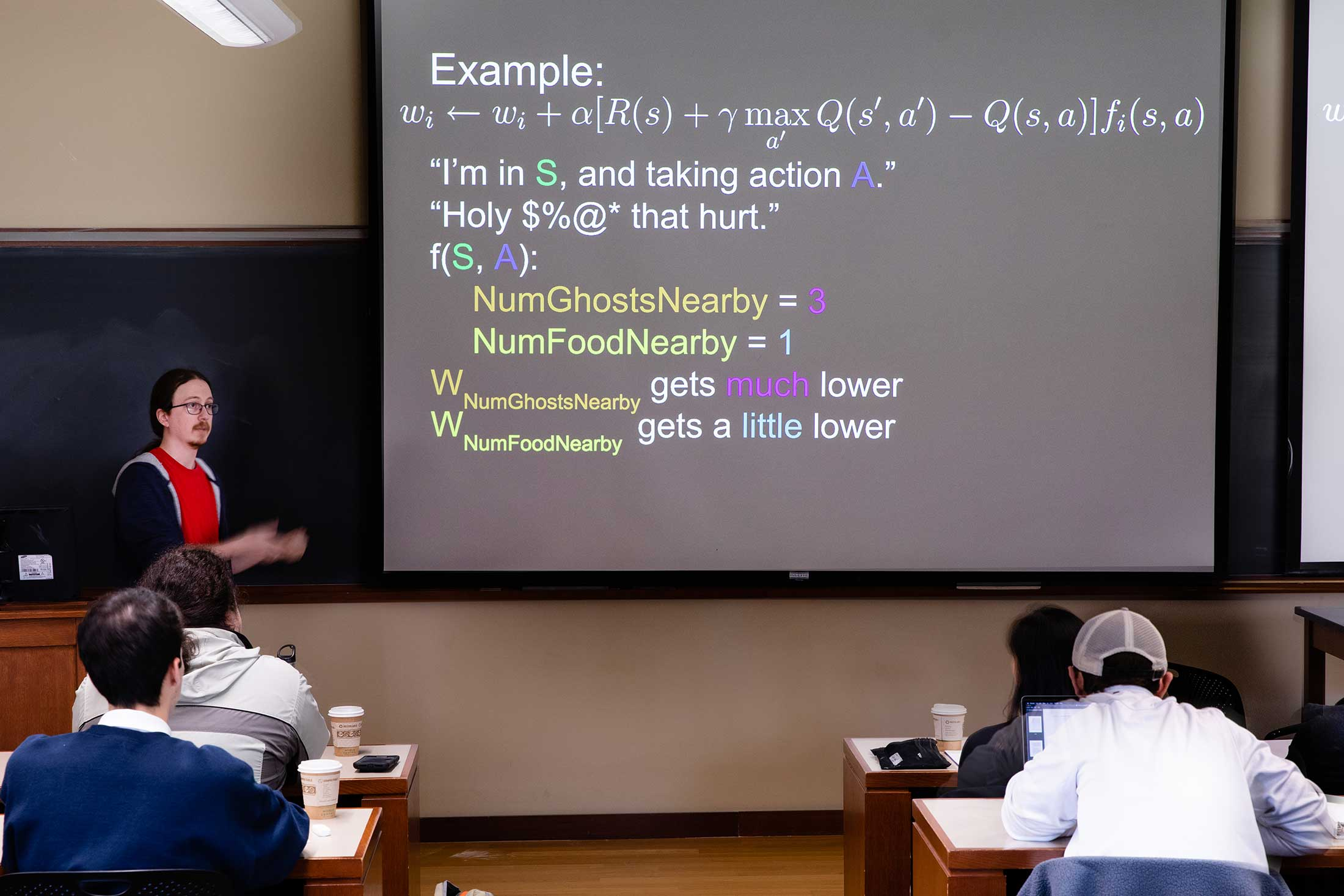 Scott Alfeld Assistant Professor of Computer Science, offered a class in Artificial Intelligence