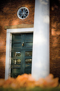 Front door of Johnson Chapel