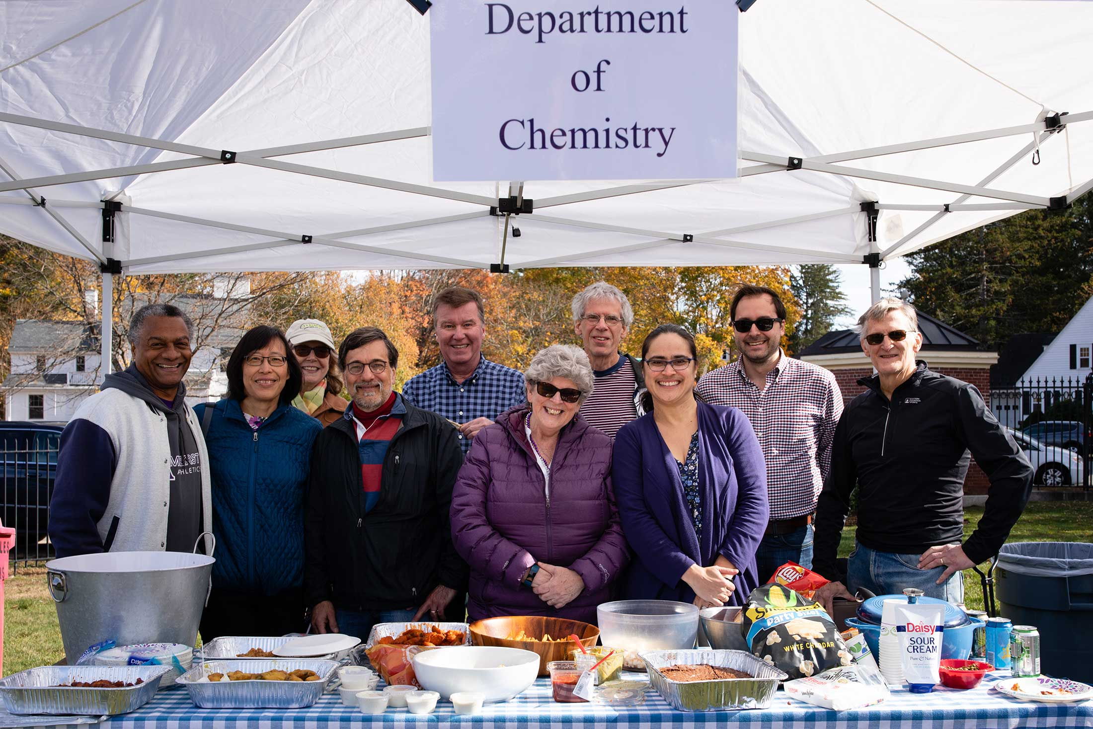 The Department of Chemistry hosting a reception