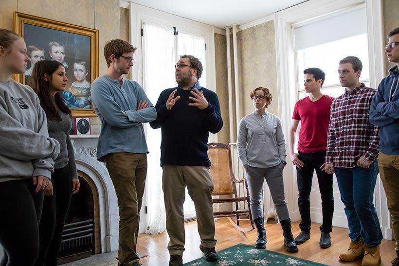 Professor Horton's student in the Emily Dickinson Museum